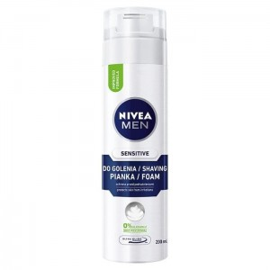 NIVEA MEN Pianka do Golenia 200ml SENSITIVE Biała