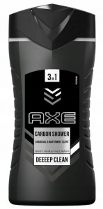 AXE 3IN1 ŻEL POD PRYSZNIC CARBON SHOWER 250ml