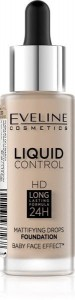 Eveline Liquid Control HD Podkład do twarzy z dropperem nr 030 Sand Beige 32ml
