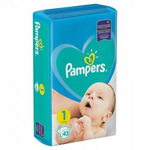 Pampers Pieluchy New Baby 1 Newborn, 43 Szt