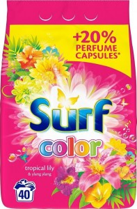 Surf Color Tropical Lily & Ylang Ylang Proszek do prania 2,6 kg (40 prań)